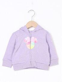 【SALE/25%OFF】GAP (K)babyGap | Disney ミッキー&ミニーマウス GAPロゴ フーディー ギャップ カットソー キッズカットソー パープル ピンク