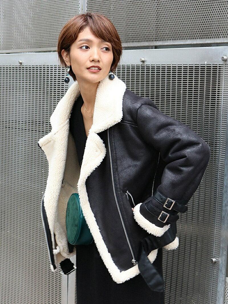Ungrid 【Ca】フェイクムートンコート アングリッド コート/ジャケット【送料無料】