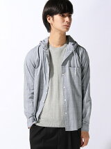 【BROWNY】(M)3メリットチェックフードシャツ
