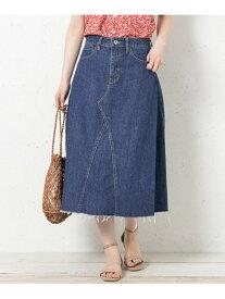 【SALE/60%OFF】Sonny Label リメイク風フレアデニムスカート サニーレーベル スカート スカートその他 ブルー