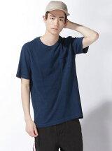 (M)インディゴミニワッフルTシャツ