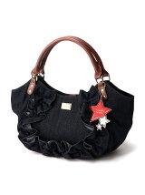 (W)VIVAYOU/スターチャーム付きデニムフリルバッグ