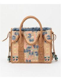 GRACE CONTINENTAL MSマルチ刺繍バッグ6 グレースコンチネンタル バッグ ハンドバッグ ベージュ カーキ【送料無料】