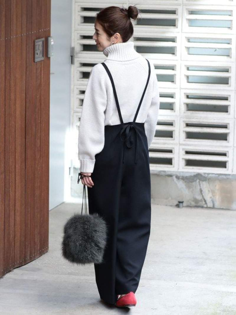 BEAUTY & YOUTH UNITED ARROWS 【追加予約】BY∴ バックリボンサロペット -手洗い可能- ビューティ&ユース ユナイテッドアローズ【先行予約】*【送料無料】
