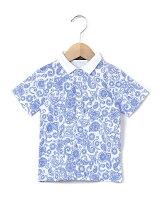 ペイズリー柄ポロシャツ