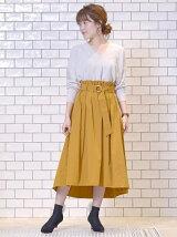 リングベルトタックギャザースカート