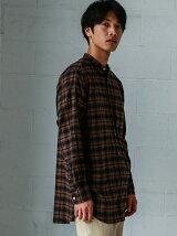 【WEB限定】SC★★チェックロングバンドカラー シャツ