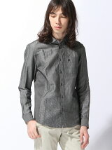 HALB/(M)綿リネンパネルシャツ