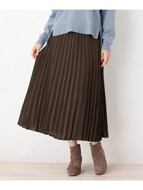 grove サテンプリーツスカート グローブ スカート スカートその他 ブラウン パープル【送料無料】