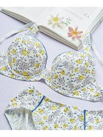 【SALE/40%OFF】une nana cool Comical flower 3/4カップブラジャー ウンナナクール インナー/ナイトウェア ブラジャー ホワイト ピンク