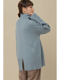 【SALE/30%OFF】ikka バックスリットハイネックプルオーバー イッカ ニット 長袖ニット ブルー ホワイト グレー ブラック ピンク