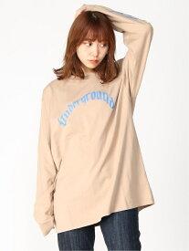 X-girl SNAKE LS TEE エックスガール カットソー Tシャツ ベージュ ブラック ホワイト【送料無料】