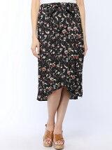 【Dukkah】(L)フラワーヘムラインスカート