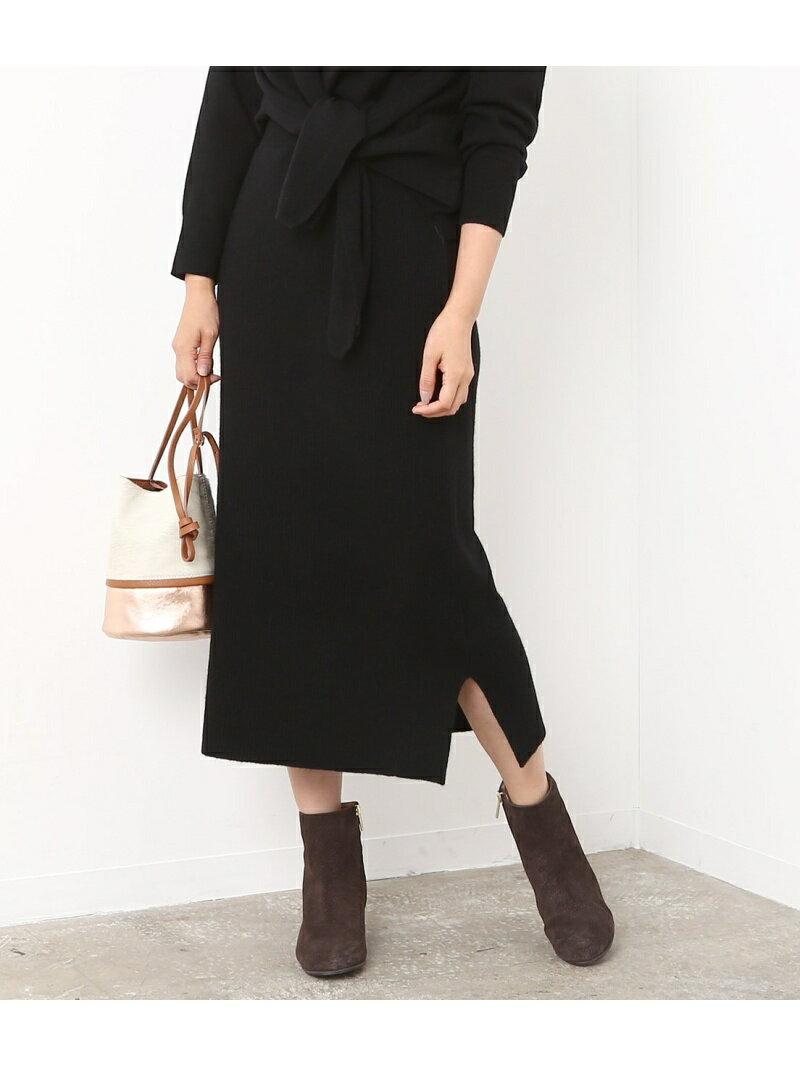 ROPE' mademoiselle リブニットスカート ロペ【送料無料】