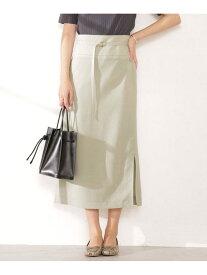 【SALE/30%OFF】nano・universe メランジドライサイドスリットIラインスカート (セットアップ可) ナノユニバース スカート スカートその他 ベージュ ブラウン ピンク【送料無料】
