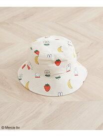 ROPE' PICNIC PASSAGE 【miffy*ROPE' PICNIC】フルーツフラワープリントリバーシブルハット ロペピクニック 帽子/ヘア小物 ハット ホワイト
