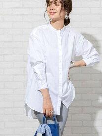 【SALE/10%OFF】coen 【先行販売】ブロードバンドカラーロングシャツ(バンドカラーシャツ)# コーエン シャツ/ブラウス 長袖シャツ ホワイト ブルー