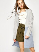 BELTED GOWN CARDIGAN
