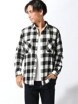 【BROWNY STANDARD】(M)シャギーネルチェックシャツ