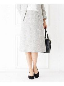 【SALE/50%OFF】HusHusH 【フォーマル・結婚式対応】ツイードスカート(セットアップ) ハッシュアッシュ スカート スカートその他 ホワイト ネイビー