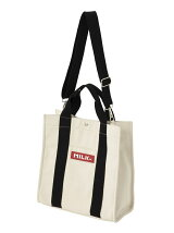 BICOLOR TAPE MIDDLE TOTE BAG