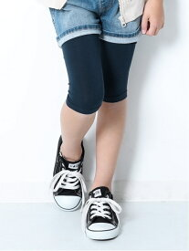 devirock 天使のレギンス 5分丈 女の子 ベビー ボトムス レギンス タイツ デビロックストア 子供服 キッズ デビロック ファッショングッズ タイツ/レギンス ネイビー パープル グレー ブルー ブラック ホワイト