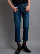 CENTER PLEAT DENIM PANTS