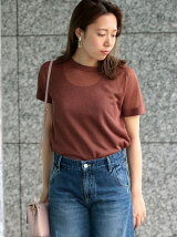 ラメ半袖ニットP/O