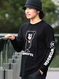 BEAMS T 【SPECIAL PRICE】BEAMS T / BOWTIE BEAR LONG SLEEVE TEE ビームスT カットソー Tシャツ ブラック ホワイト【送料無料】
