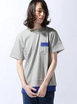 [JOEY FACTORY]袖メッシュ切り替えポケットTシャツ