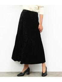 【SALE/80%OFF】ROPE' mademoiselle クラッシュベロアパネルギャザースカート ロペ スカート スカートその他 ブラック ブラウン パープル