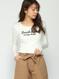 Janiss フロントロゴプリントロングTシャツ(2) ジャニス カットソー Tシャツ ホワイト レッド グレー ブラック