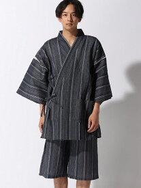 【SALE/12%OFF】ALASKO シジラ甚平(KING) アラスコ ビジネス/フォーマル 着物/浴衣 ブルー ネイビー ブラック グレー ホワイト