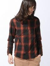 TETE HOMME/(M)オンブレーチェックシャツ