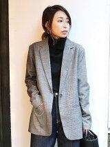【Cl】グレンチェックジャケット