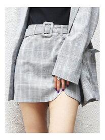 EMODA フラップタイトスカート エモダ スカート ミニスカート グレー ブラウン ベージュ【送料無料】