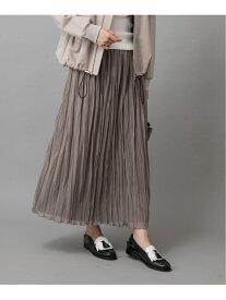 【SALE/50%OFF】Munich ポリエステルジャージープリーツスカート ミューニック スカート プリーツスカート/ギャザースカート ベージュ グリーン ホワイト カーキ グレー ネイビー【送料無料】