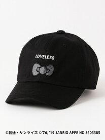 GUILD PRIME 【LOVELESS×HELLOKITTY】キティリボンコラボ?キャップ ラブレス 帽子/ヘア小物 キャップ ブラック ホワイト【送料無料】