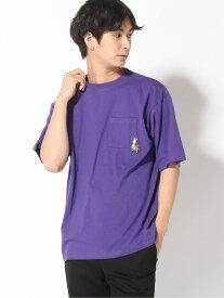 【SALE/27%OFF】PLAYBOY (M)PLAYBOY コラボTSS レイジブルー カットソー Tシャツ パープル ブラック ベージュ ホワイト
