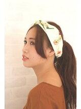 ボタニカル柄ひし形スカーフ