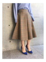 【追加生産】グレンチェックフレアスカート