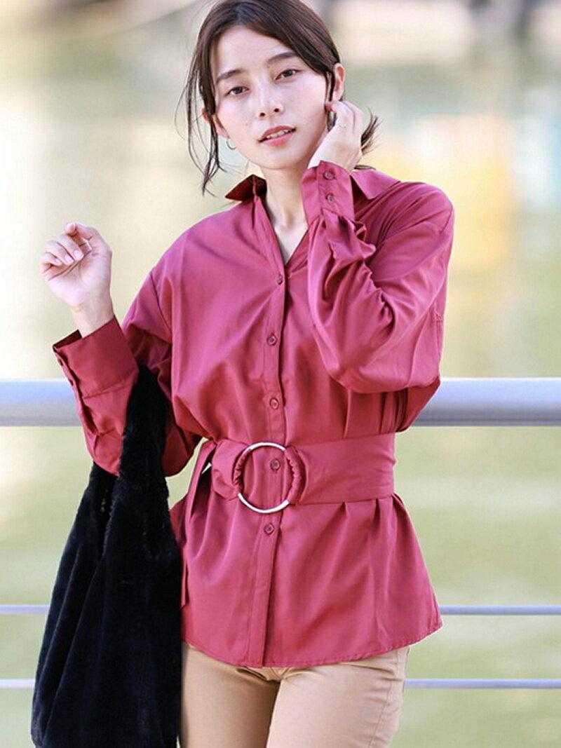 【SALE/50%OFF】GIORDANO (L)ベルトロングシャツ ジョルダーノ シャツ/ブラウス【RBA_S】【RBA_E】