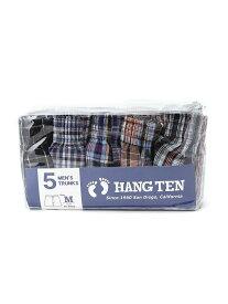 HANG TEN HANG TEN/(M)5Pトランクス チェック柄 コンプリート インナー/ナイトウェア ボクサーパンツ/トランクス ブルー