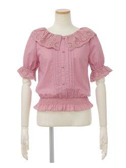 Cut race frill blouse Riz Risa shirt / blouse