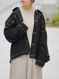 179/WG オーバーサイズジャケット イチナナキューダブリュジー コート/ジャケット コート/ジャケットその他 ブラック ピンク パープル【送料無料】