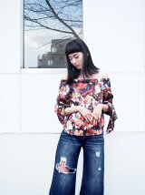 PAINT FLOWER SKIN TOP