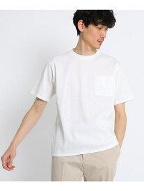 【SALE/40%OFF】TAKEO KIKUCHI 【ドライタッチコットン】ポケットTシャツ タケオキクチ カットソー Tシャツ ホワイト グレー ブラック カーキ ネイビー
