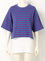 NEON BORDER LOOSE CROPPED T/SH