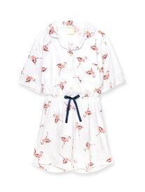 fran de lingerie mochi-pileパジャマシャツ上下セット フランデランジェリー インナー/ナイトウェア ルームウェア/トップス ホワイト ブルー グレー カーキ グリーン ネイビー ピンク