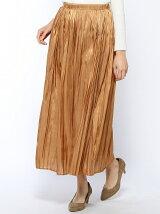 (W)プリーツマキシスカート
